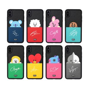 bt21,card pocket bumper case