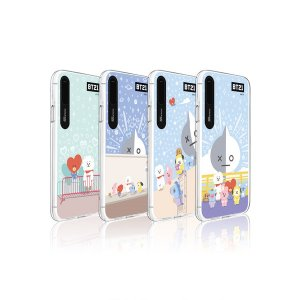 bt21,pastel city graphic light up phone case
