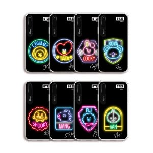 bt21,neon graphic light up phone case