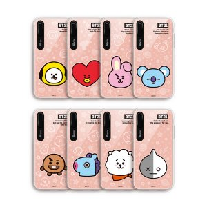 bt21,face mirror light up phone case